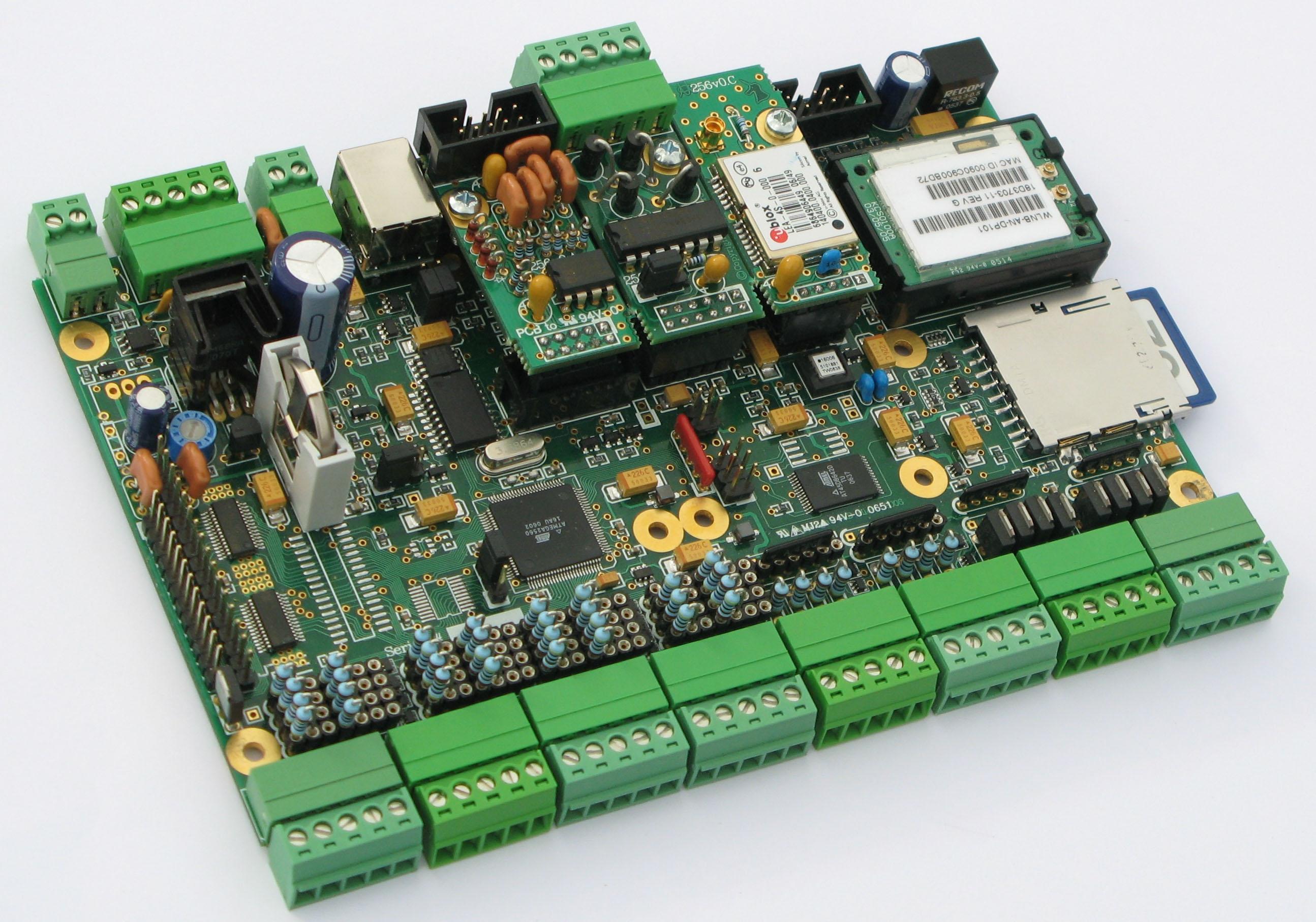 Jed Avr256 Single Board Computer Using The Atmega2560 Atmel Avr Mcu Family Expanded